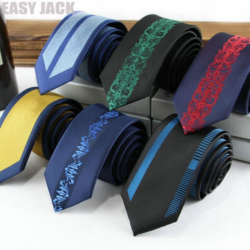 Maigre Cravates Pour Hommes 6 cm Positionnement Jacquard Bande Polyester Gravata Kravat Mouchoir De Mariage D'affaires Datant Banque Cravate cravate de col