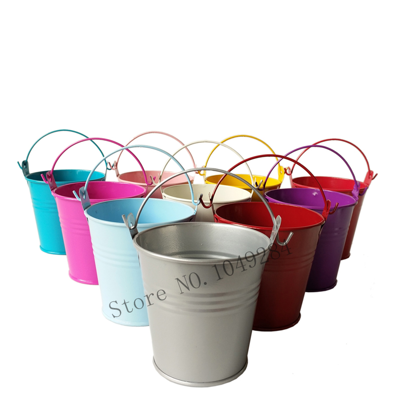 d7 5 h7 5cm free shipping 30pcs cheap metal buckets wedding tub tin small pails flower pot for. Black Bedroom Furniture Sets. Home Design Ideas