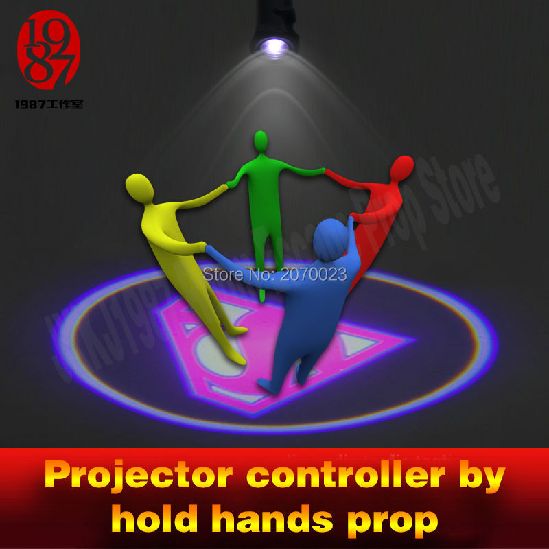 Hold Hands To Lighten Up A Projector Escape Room Game Adventuer Prop For Get Hidden Picture Clue Puzzle For Chamber Room Player