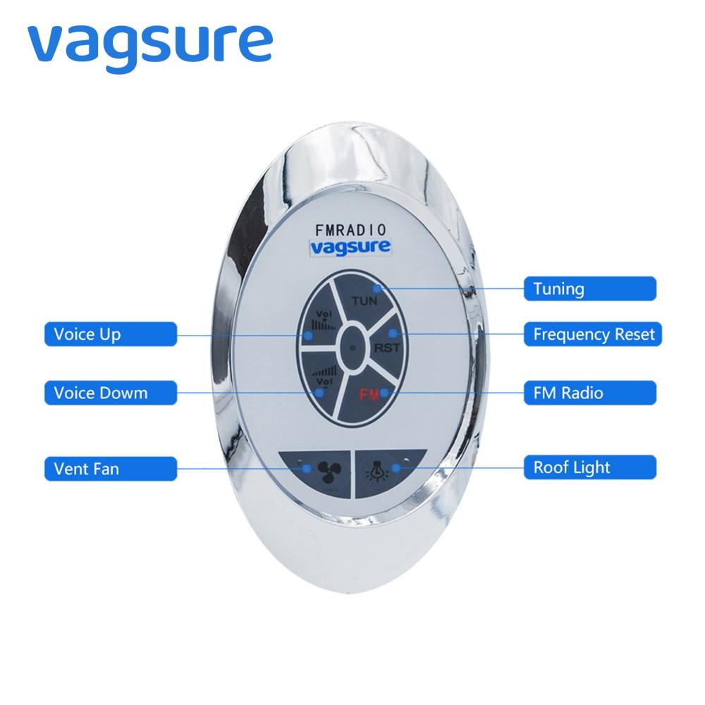 AC 12V ABS Round Shower FM Radio Controller Shower Cabin Room Connection For Accessories Speaker Vent Fan Shower Lighting