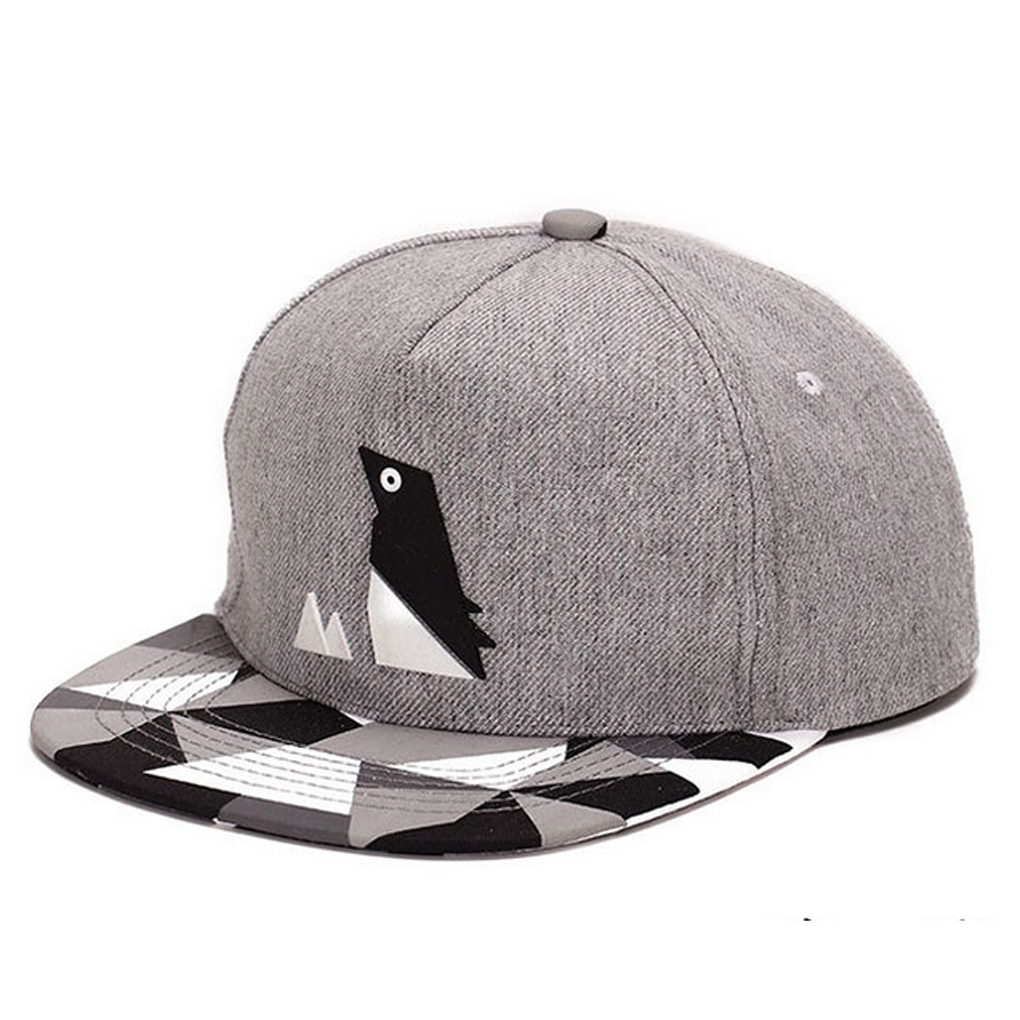 Newest Penguin Pattern Hip-hop Cap Unisex Hat Adjustable Buckle Baseball Cap Comfortable