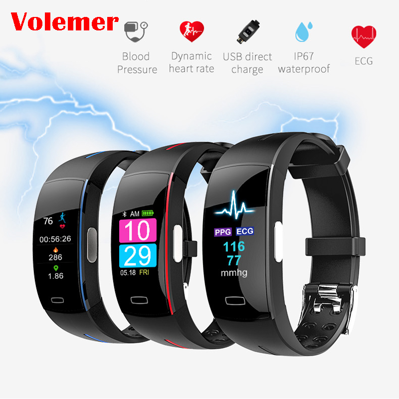 P3 Plus Color Screen Blood Pressure Smart Band Heart Rate Monitor PPG ECG Smart Bracelet Activit