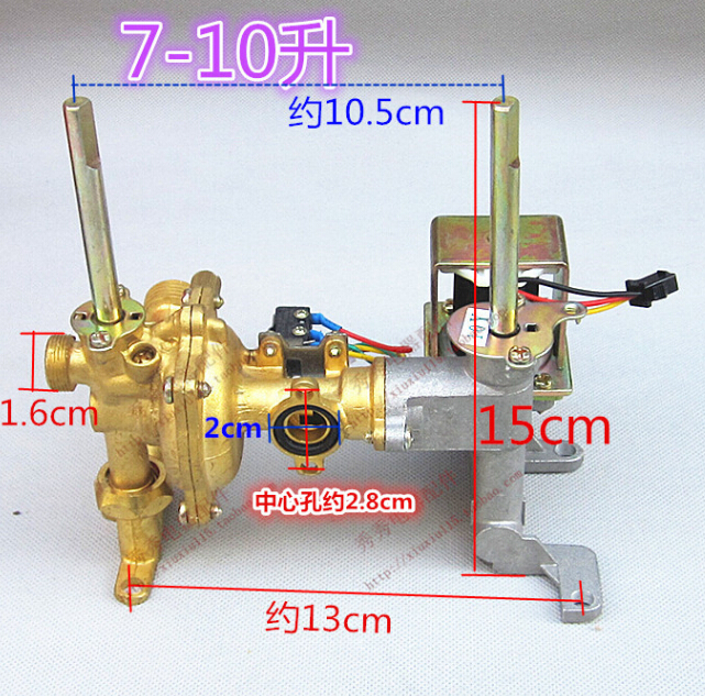 7-10L gas water heater parts brass material  water and gas valve assembly