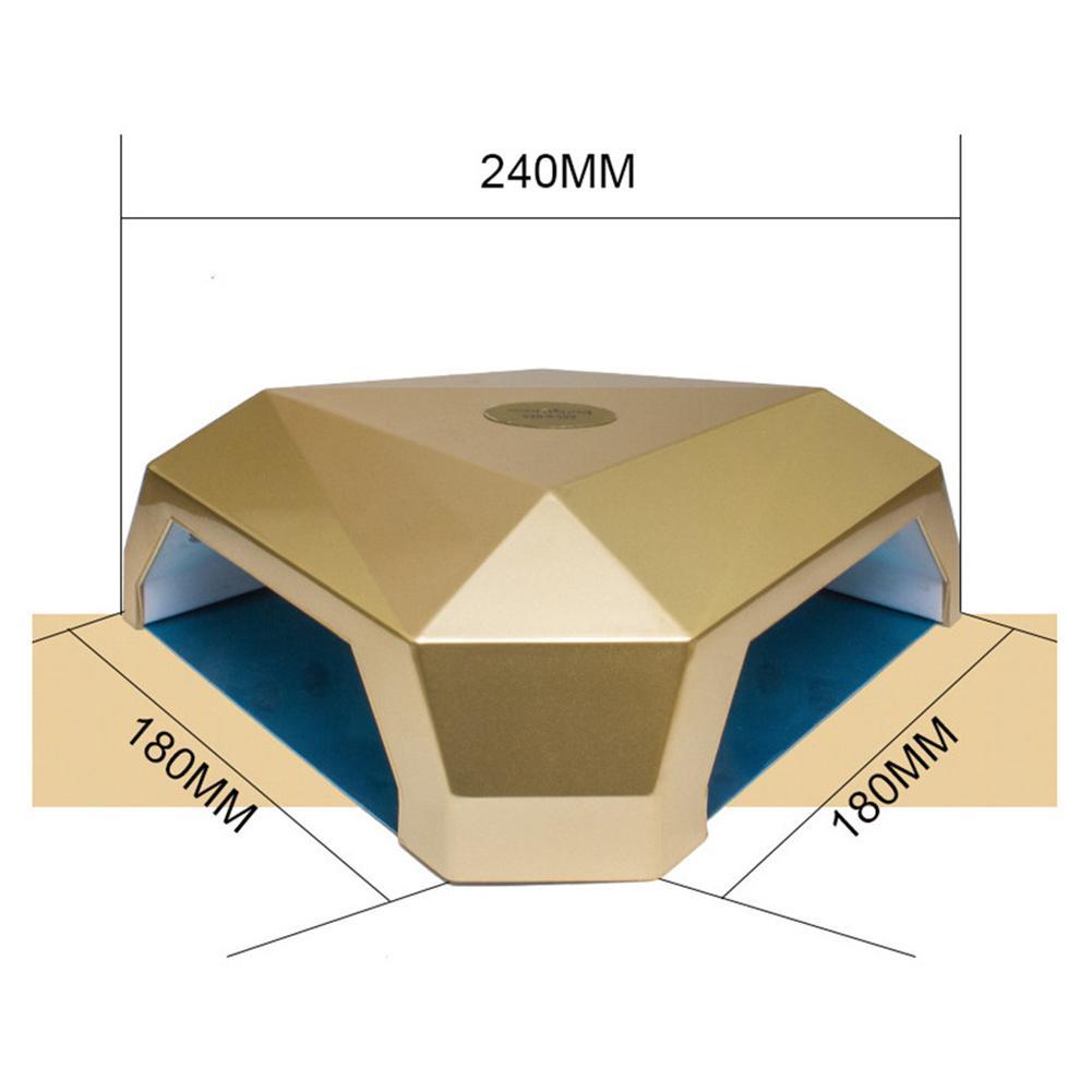 60 Вт Светодиодная УФ лампа для ногтей для УФ гель лака для отверждения Профессиональный Сушилка для ногтей ЖК дисплей сушка все Гель лак для... - 4