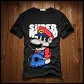 Xxl-8xl Plus Size Super Mario camisa de marca homens suspiro de algodão camisa de moda Casual ( XXL XXXL 4XL 5XL 6XL 7XL 8XL )
