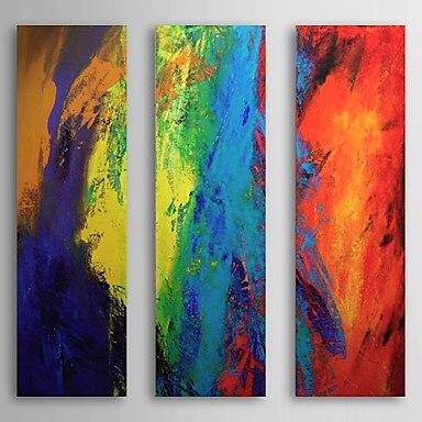 3 panneau peint à la main moderne abstrait décor à la maison coloré toile peinture œuvre Cuadros photos peintures à l'huile pour salon