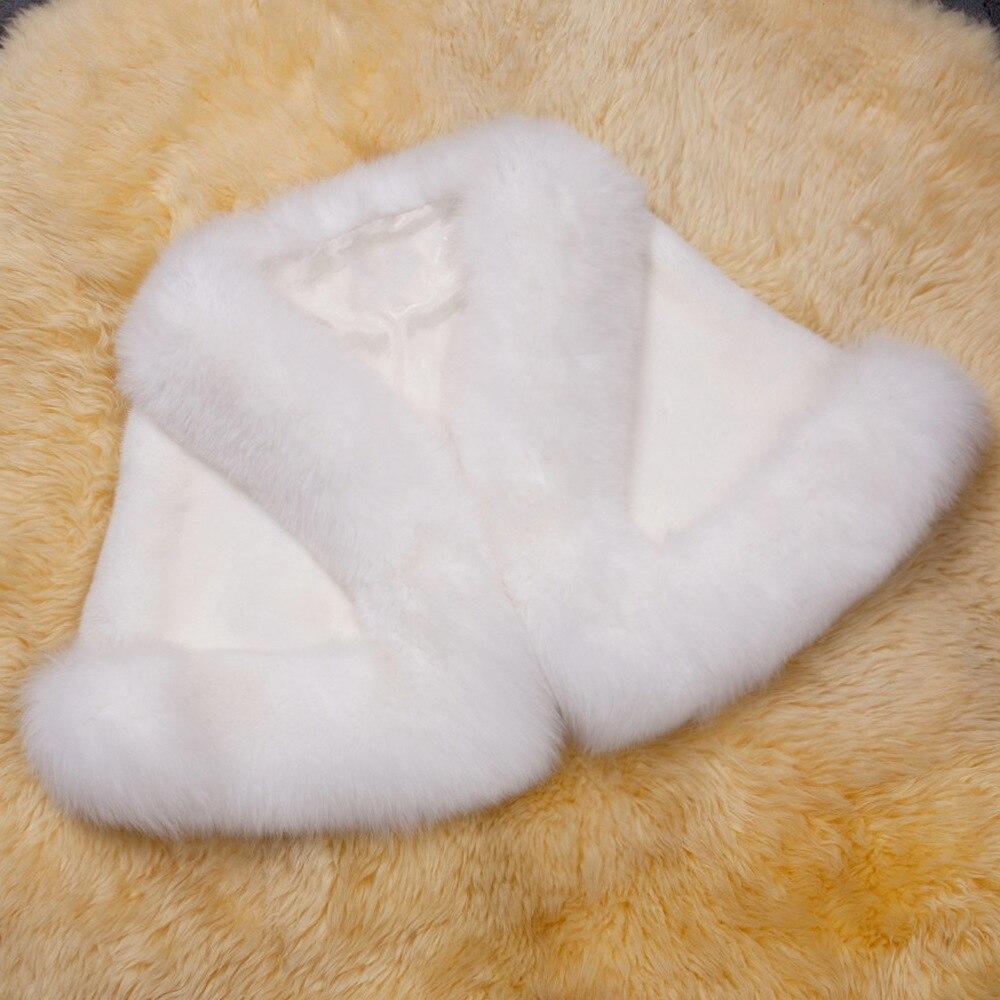 Europe and America autumn and winter new imitation fur bride dress bridesmaid fur shawl cape coat (19)