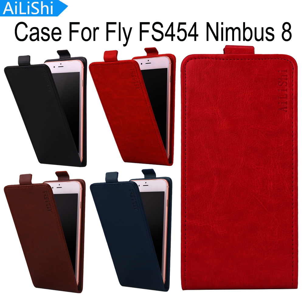 AiLiShi Top Quality Up And Down Flip Hot Sale PU Leather Case Protective Cover Skin Luxury For Fly FS454 Nimbus 8 Case In Stock