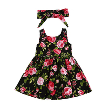 Baby girl clothes set Flower Dresses Girls Dress Sleeveless