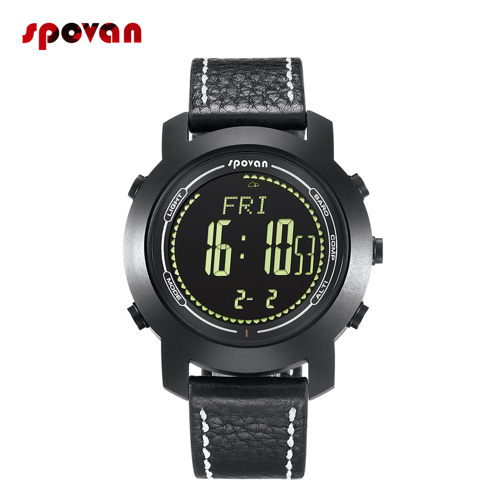 <font><b>2019</b></font> <font><b>New</b></font> Bravo 2S <font><b>Smart</b></font> <font><b>Watch</b></font> Men Mountaineering <font><b>Watch</b></font> With 3D Pedometer Altimeter Barometer Compass Thermometer image