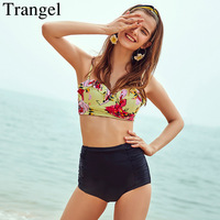 Trangel Brand Bikini Women 2017 Swimwear High Waist Bikini Set Sexy Swimsuit Push Up Swimwear Print