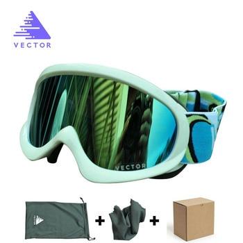 35793364fb4 VECTOR niños gafas de esquí doble lente UV400 Anti-niebla nieve esquí gafas  para niñas