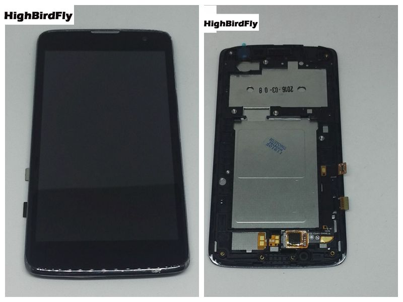 Highbirdfly For <font><b>Lg</b></font> <font><b>k7</b></font> X210 <font><b>X210DS</b></font> Lcd Display+Touch <font><b>Glass</b></font> Digitizer With Frame Assembly Black Replacement Screen image