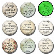 Life, Love, Laugh Quotes Fridge Magnet 8PCS/SET 25MM Luminous Glass Refrigerator Magnetic Sticker Interesting Home Decor