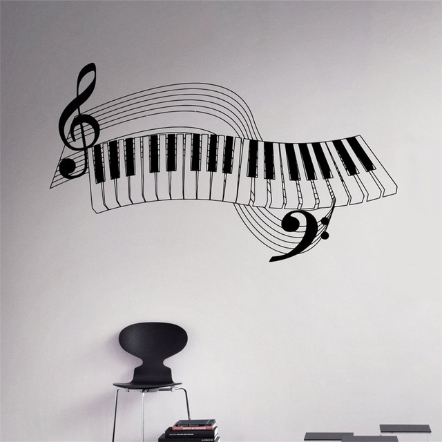 piano keys wall decal musical instrument vinyl sticker music home