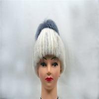 Winter ladies hat fur leather fur mink woven hat suede warm earmuffs
