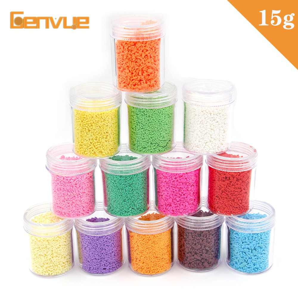 Fake Sprinkles Filler for slime Supplies DIY Accessories Cake Dessert Beads Charms For Soft Clay Fluffy Addition Slime Plasticin