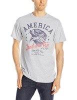 Men's America Land Of The Free 1776 T-Shirt Summer Men Fashion Cool Short Sleeve Tee Shirt Tops