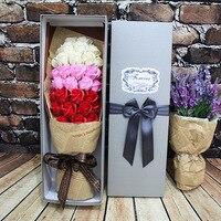 XXXG/33 꽃 꽃다발 선물 장미 비누 꽃 생일 기념일 영원한 수명 상자 로맨틱 비누 장미 꽃