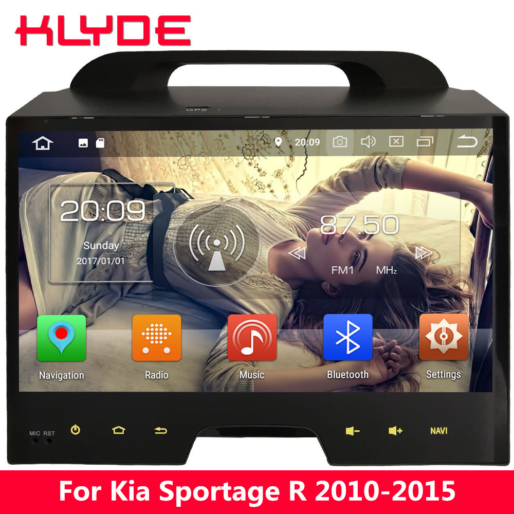 KLYDE 10.1 IPS Octa Core 4G WIFI Android 8.0 7 4GB RAM+32GB Car DVD Multimedia Player Radio Stereo For Kia Sportage R 2010-2015 android 8 0 octa core 4gb ram 32gb rom car dvd radio multimedia stereo player 1024 600 gps navigation for kia sportage 2010 2012