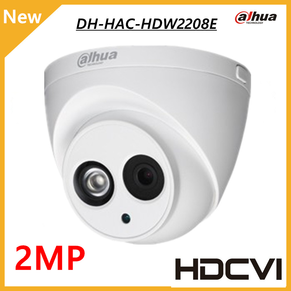 DAHUA HDCVI DOME Camera 1/2.8 2Megapixel CMOS 1080P IR 50M IP67 HAC-HDW2208E dahua cctv security camera dahua coaxial camera dahua hdcvi 1080p bullet camera 1 2 72megapixel cmos 1080p ir 80m ip67 hac hfw1200d security camera dh hac hfw1200d camera