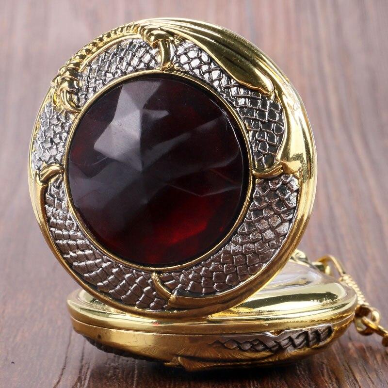 Zegarki kieszonkowe FOB Zegarek wisiorek Zegarek kwarcowy Jewel Evil - Zegarki kieszonkowe - Zdjęcie 4