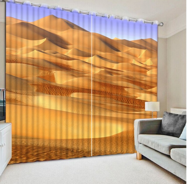 3d foto afdrukken verduisterende gordijnen voor woonkamer beddengoed hotel gordijnen cortinas woestijn landschap moderne natuur