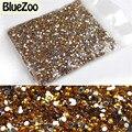 BlueZoo Novo 20000 pcs Ouro 2mm Decoração de Unhas Pedrinhas Decoração Glitter Para DIY Dicas de Decoração