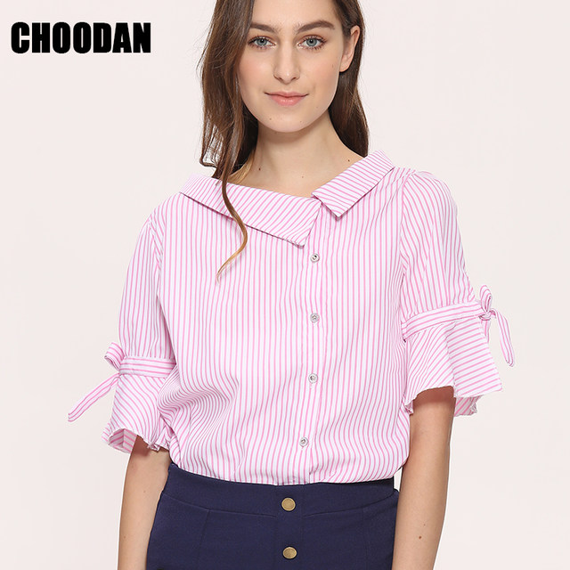Online Shop Novelty Blouses Shirts Women Striped Blouses 2018 New