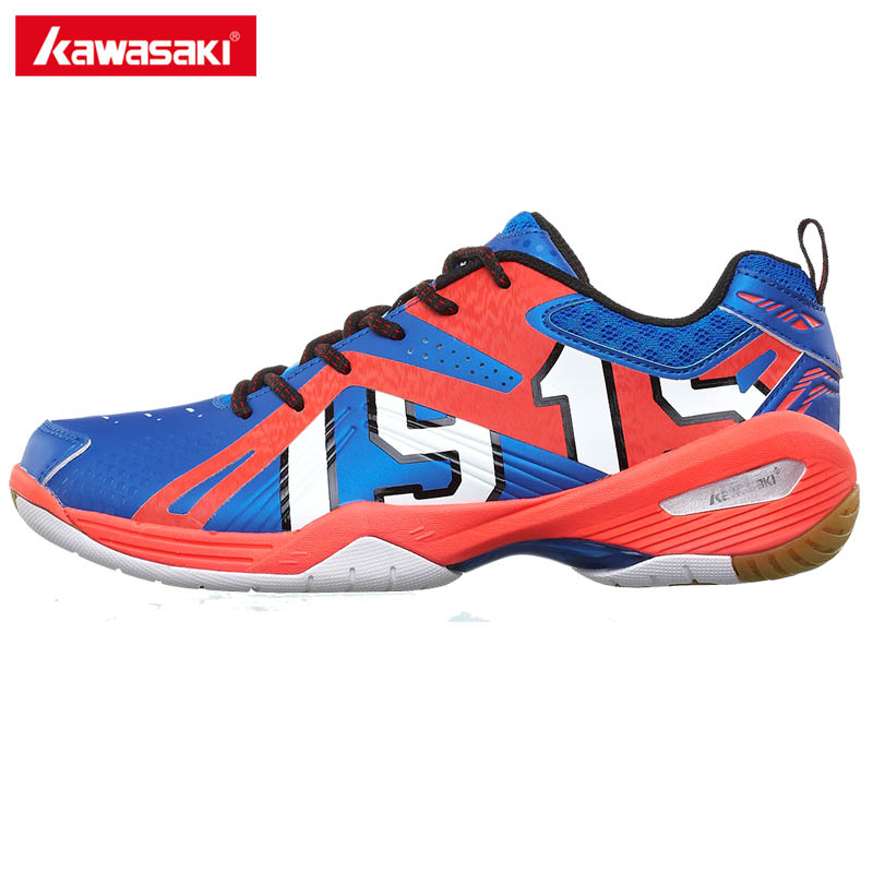 Genuine Kawasaki Mens Badminton Shoes Brand Breathable Sneakers Women Sports Training Shoes K-515 Free Gift Socks