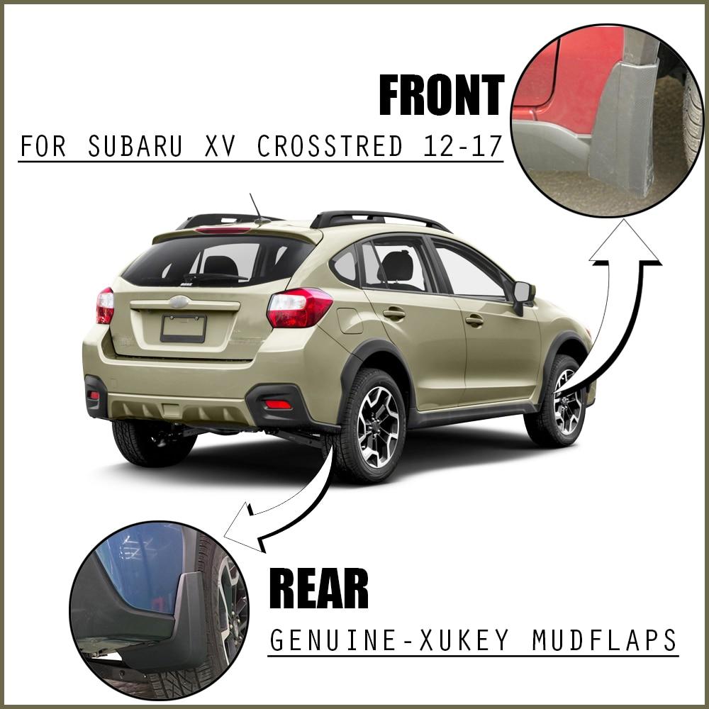 Splash Guards Full Set Front Rear 2013-2017 For Subaru XV Crosstrek Mud Flaps