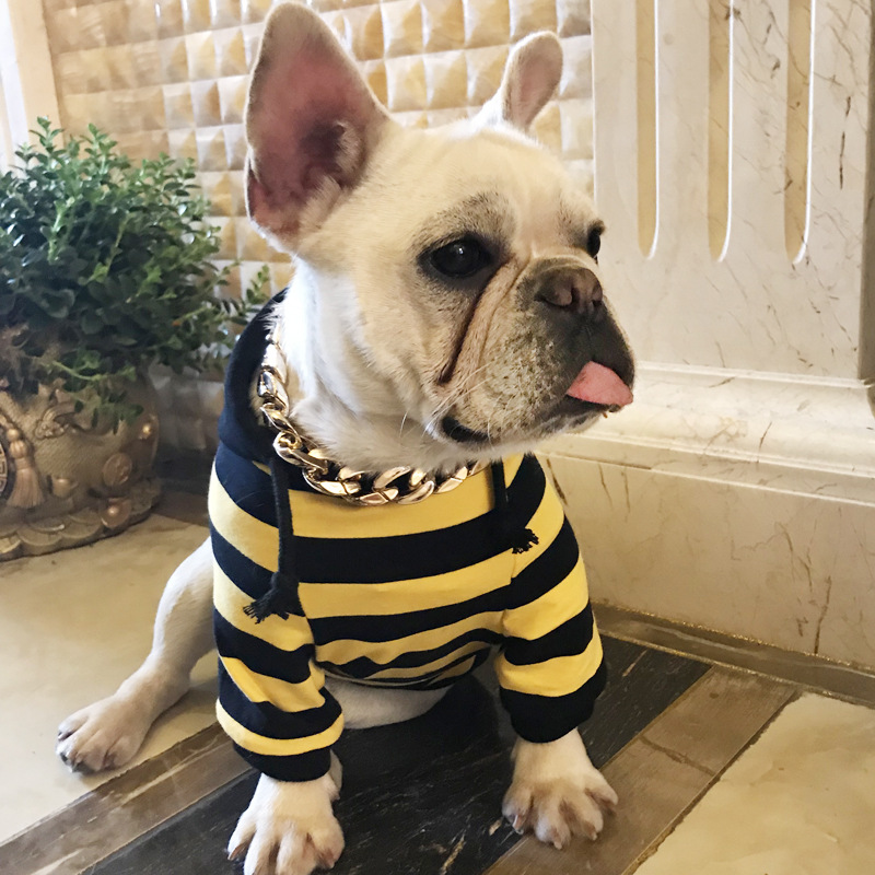 Dog Clothes for Small Dogs Summer French Bulldog Clothes Chihuahua Hoodies Puppy Coat Jacket for Pug Striped Sweater Dog Costume