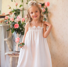 Children Clothing Summer Dresses Girls Baby Pajamas Cotton Princess Nightgown Kids Home Cltohing Girl Sleepwear Slip dress недорого