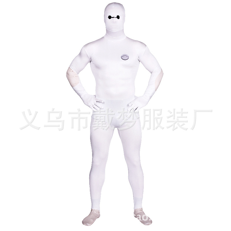 (LP7056) adulte corps complet blanc gros Heros Lycra Spandex super-héros Spiderman Zentai costumes Costume de fête d'halloween