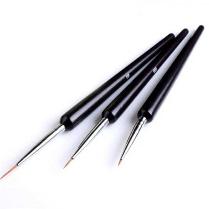 ISHOWTIENDA 3Pcs מנקדים ציור ציור UV ג 'ל פולני אניה מברשת כלי נייל אמנות עט 3 יח'\סט נייל אמנות עט 3d נייל מברשת