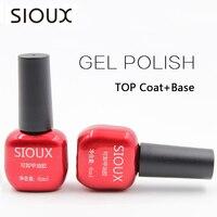 SIOUX 6ml Nail Gel Polish Soak Off UV Top Coat Base Coat Gel Polish Long-lasting Gel Lacquer Gelpolish SI01