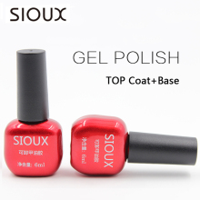 SIOUX 6ml Nail Gel Polish Soak Off UV Top Coat Base Coat Gel Polish Larga duración Gel Laca Gelpolish SI01