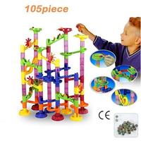 105Pcs Funny DIY Construction Marble Maze Balls Building Blocks Xmas Gift
