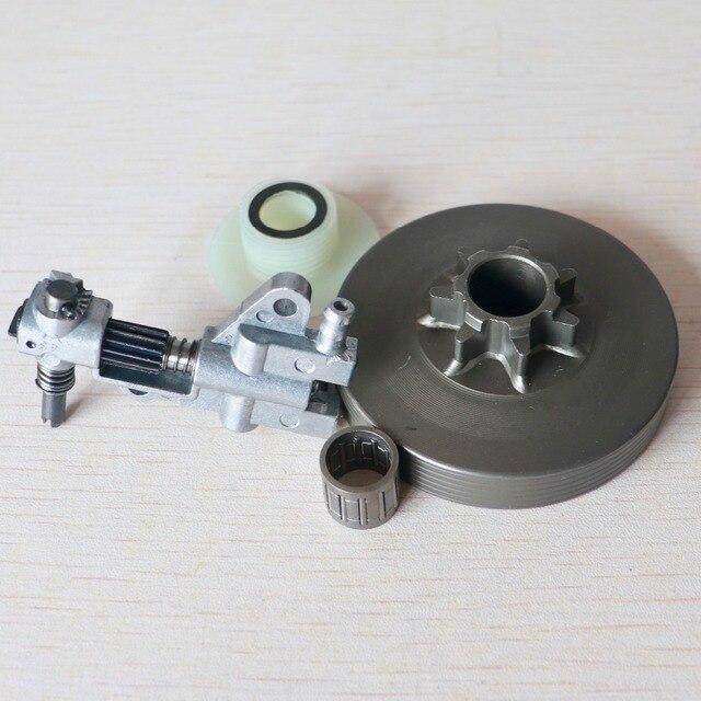 Embrayage tambour/pompe à huile/vis sans fin Kit pour chinois 4500 5200 5800 45cc 52cc 58cc tronçonneuse. 325