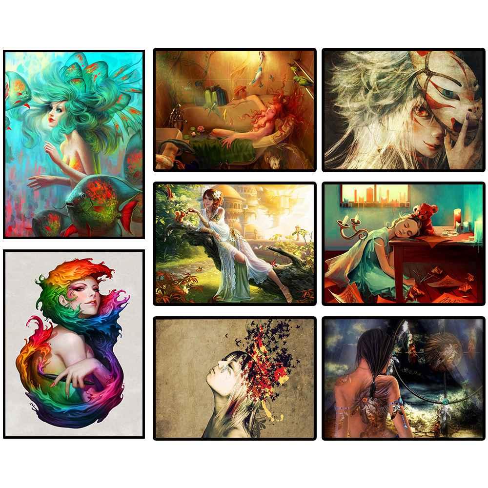 5d, diy, алмаз живопись, мультфильм принцесса, девушка, подарок, горный хрусталь живопись, Алмазная мозаика, алмаз вышивка крестом, домашний дек...