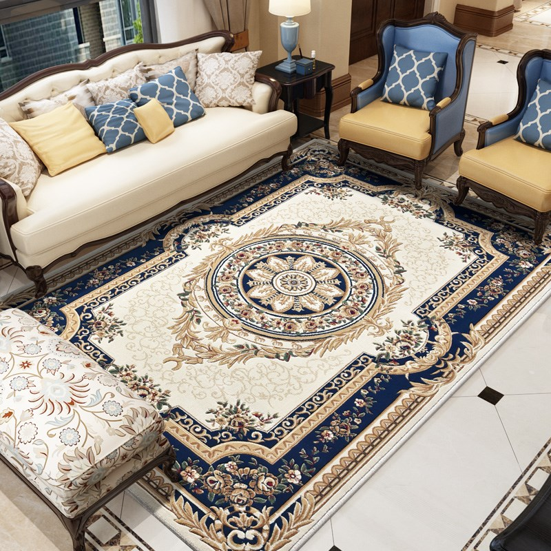 Europe Hand Carved Carpet Living Room