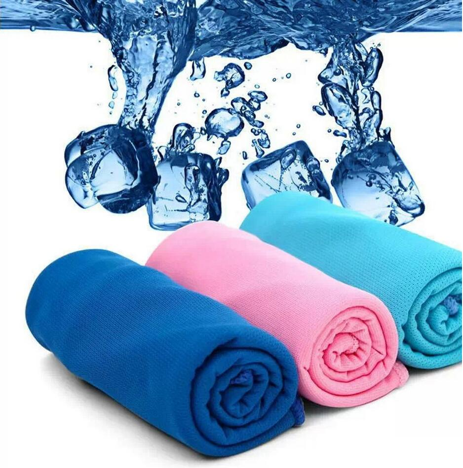 Wholesale High Quality Air Cooling Summer And Winter: 80*35cm Fashion Creative Sport Cooling Towel Sweat Summer
