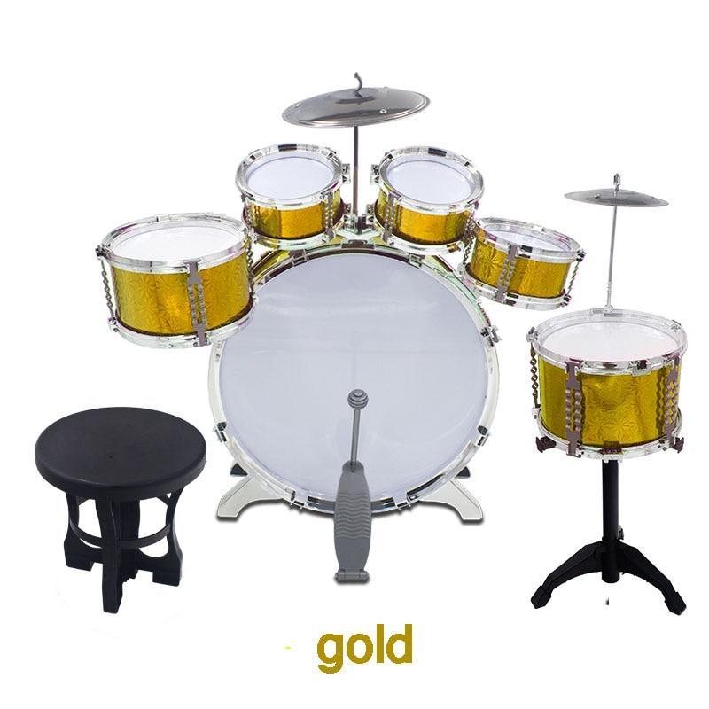 ФОТО Child deluxe drum rack toy drum musical instrument jazz drum 2 - 8 jazz drum set