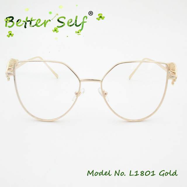 4b47e09336 Better Self L1801 Cat Eye Eyeglasses Wing Decorated Temple Clear Lens  Spectacles Women Optical Eyewear Transparent Glasses Frame