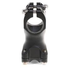 лучшая цена MTB Road Bike Durable Black Aluminium Alloy Handlebar Stem Riser 25.4mm 60mm velo stem Bicycle Accessories