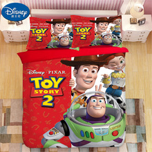 Toy Story Bedding Set Woody Buzz Lightyear Duvet Covers Pillowcases kids Cartoon Comforter Sets bed linen