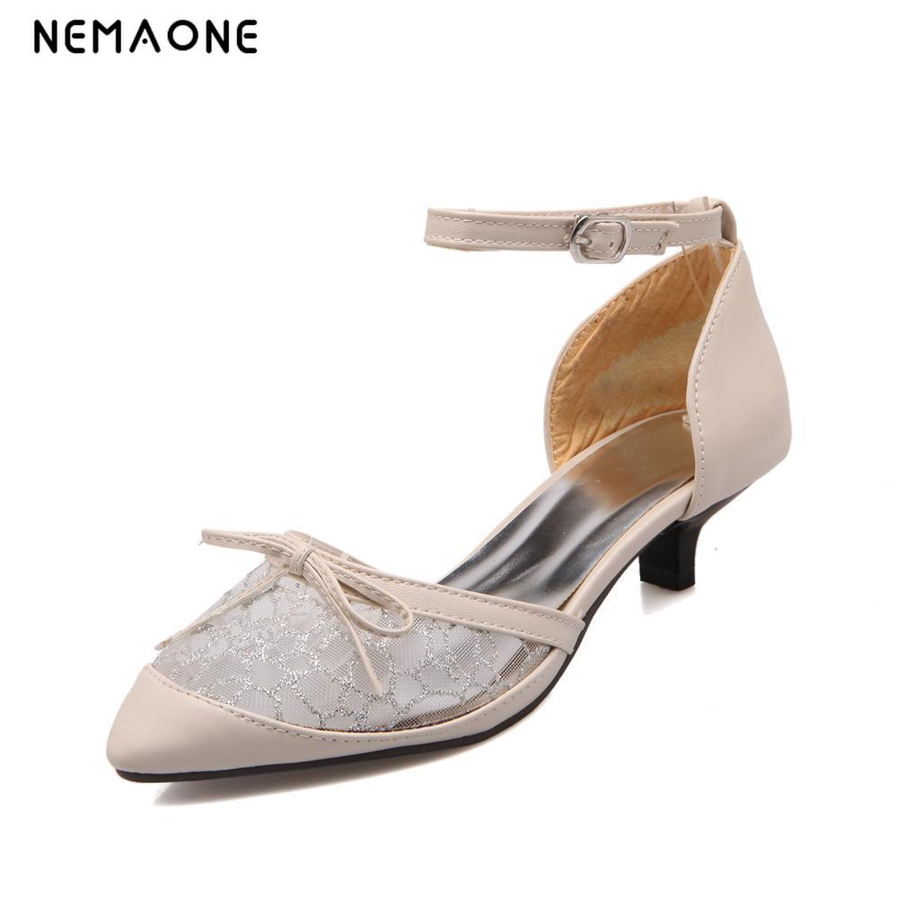 NEMAON2017 sexy women shoes ankle strap low heels shoes woman poined toe ladies dress shoes party wedding shoes large size 34-43 covibesco nude high heels sandals women ankle strap summer dress shoes woman open toe sandals sexy prom wedding shoes large size
