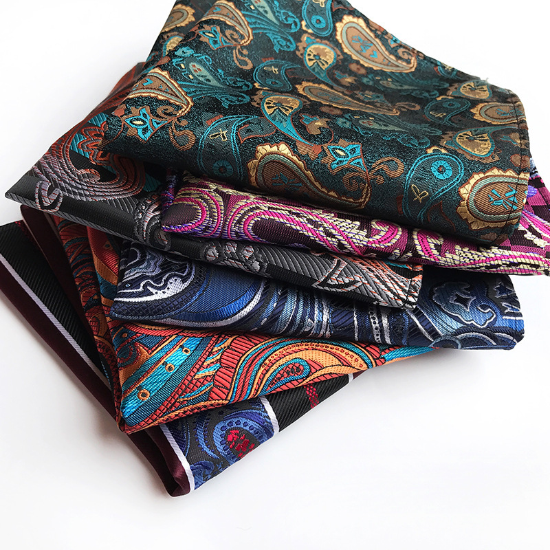 Exclusive Original Design Men's Handkerchief Square 2019 Explosion Polyester Fashion Paisley Large Flower Suit Pocket Towel