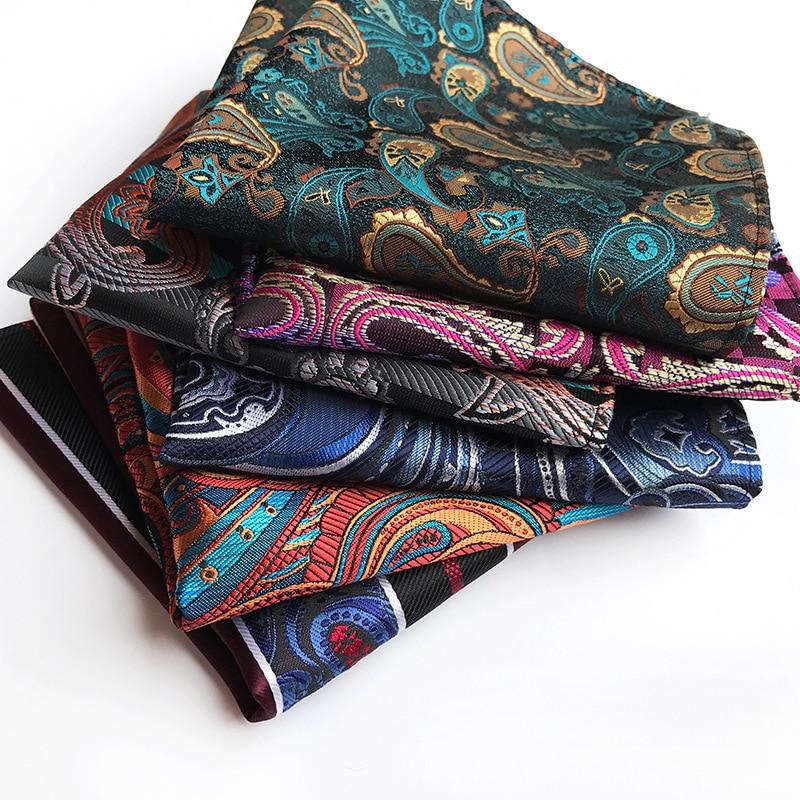 Exclusive Original Design Men's Handkerchief Square 2019 Explosion Polyester Fashion Paisley Large Flower Suit Pocket Towel