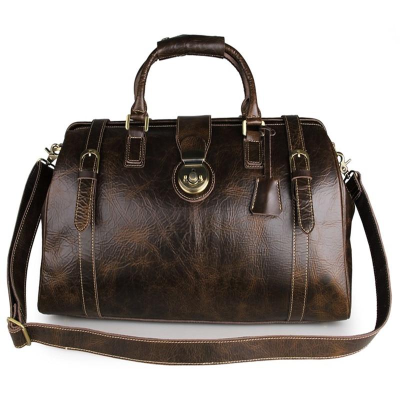 MARRANT Men Travel Bags Genuine Cowhide Leather Travel Duffle Luggage Crossbody Handbag Water Proof Brand Tote Male Bag 7281